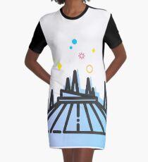 Space Mountain Ride Artwork Graphic T-Shirt Dress