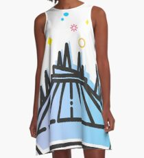 Space Mountain Ride Artwork A-Line Dress