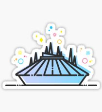 Space Mountain Ride Artwork Sticker
