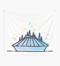 Space Mountain Ride Artwork Wall Tapestry