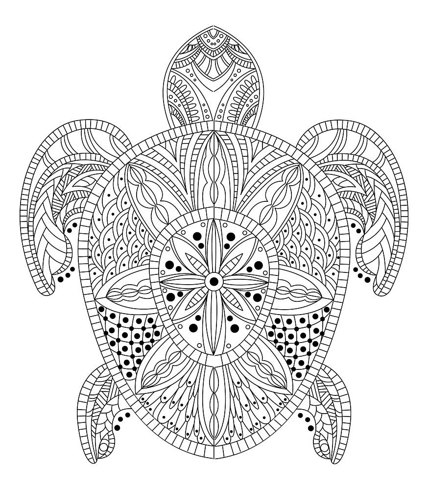 Turtle in Zentangle style by topvectors