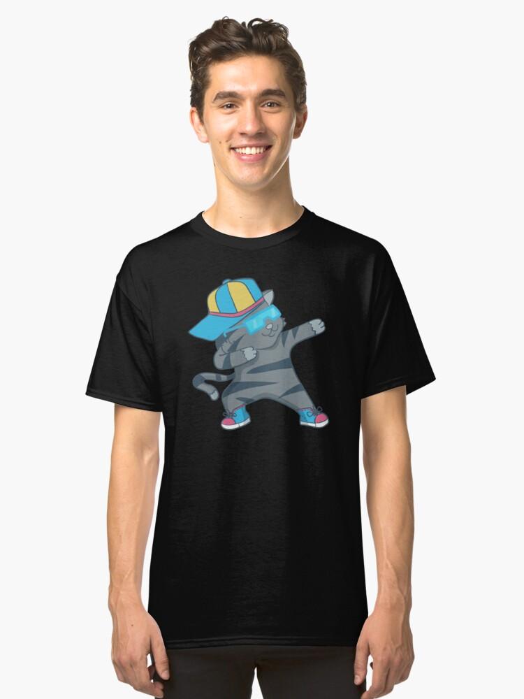 Dabbing Cat Dab Dance Funny Kitten Dancing Classic T-Shirt Front