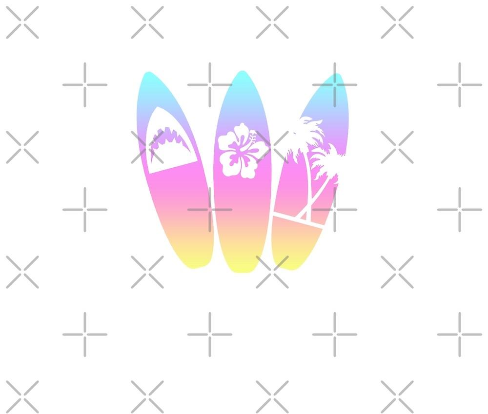 Los Angeles California Surfboard by PopArtDesigns