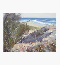 Coastal Dunes Sunrise Beach Sunshine Coast Qld Painting Photographic Print