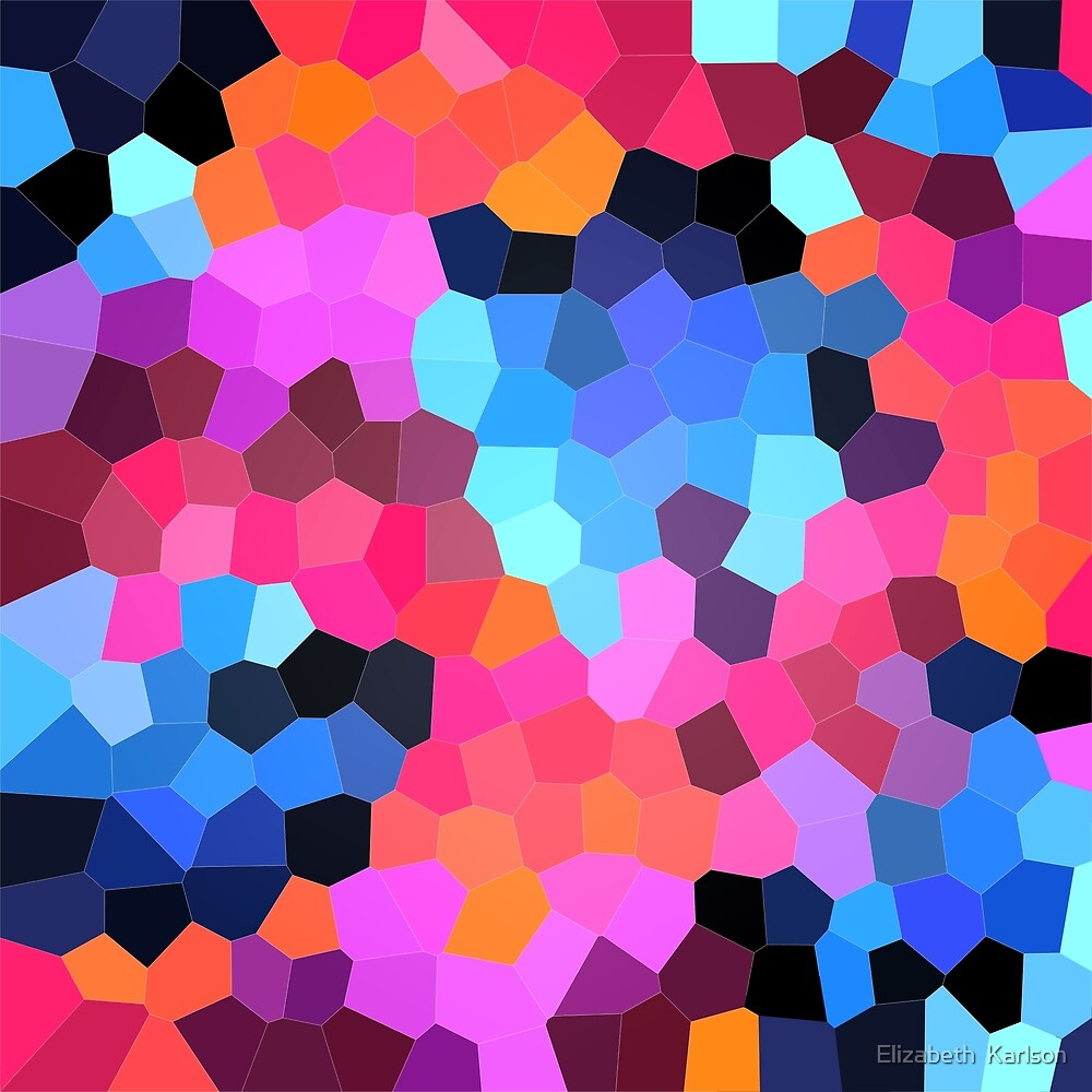 Neon Abstract Geometrics by Elizabeth  Karlson