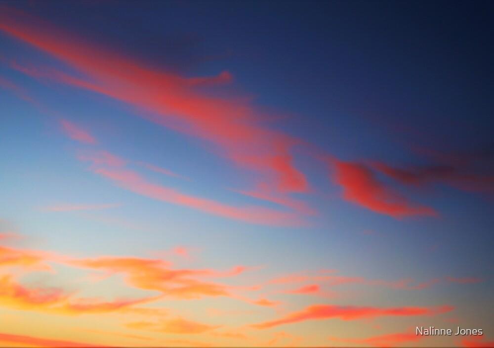 Neon Cotton Candy Clouds by Nalinne Jones