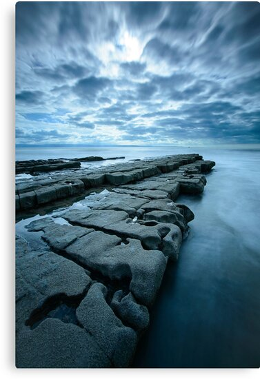 Rock Shelf at Nash Point by MargaretClavell