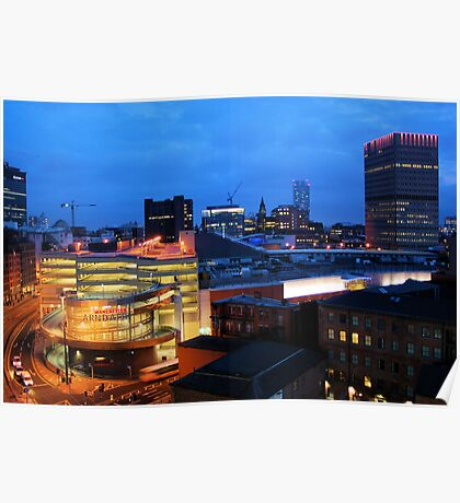 Manchester Skyline 2 Poster
