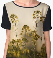 Mustard Plant flowers Chiffon Top