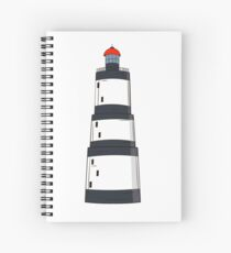 Black and white lighthouse Spiral Notebook