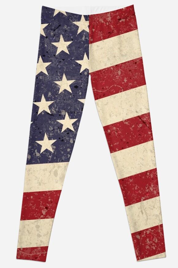 Vintage American Flag by AntiqueImages