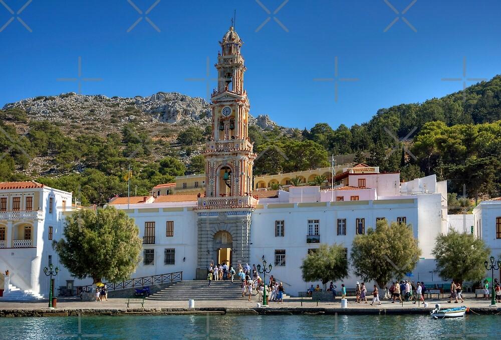 The Monastery on Symi by Tom Gomez