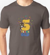 Five Years fifth Birthday Party Cat R3mib Unisex T-Shirt