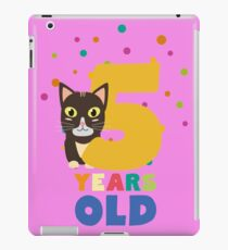 Five Years fifth Birthday Party Cat R3mib iPad Case/Skin