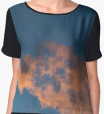 sunset sky with clouds and shooting star Chiffon Top