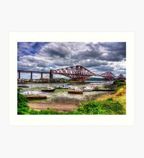 Low Tide in North Queensferry Art Print
