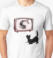 Fish and Cat  Unisex T-Shirt