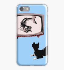Fish and Cat  iPhone Case/Skin