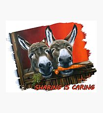 Sharing is Caring! Photographic Print