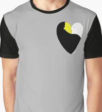 HeartCraft Weiß und Gelb Grafik T-Shirt
