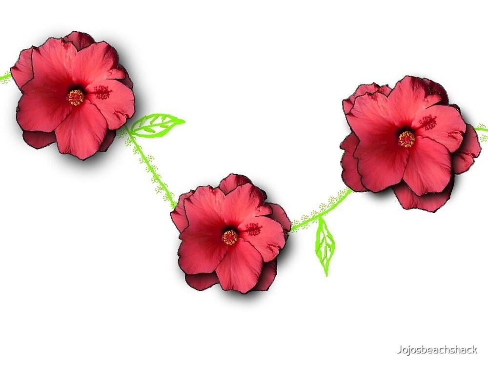 Red Hibiscus Chain by Jojosbeachshack
