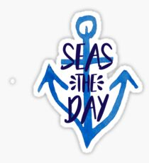 Seas the Day - Anchor Sticker