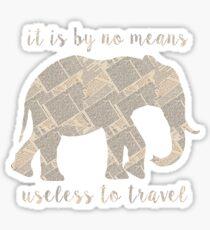 Around the World in 80 Days - Elephant Sticker