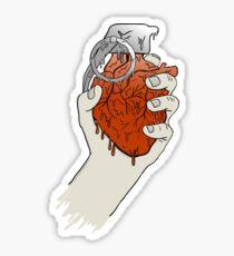 My Heart like a Handgrenade Sticker