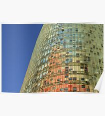 Torre Agbar Abstract Poster