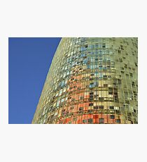 Torre Agbar Abstract Photographic Print