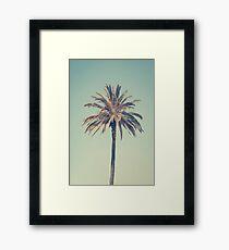Retro palm tree Framed Print