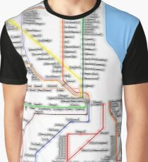 Chicago Rail System Graphic T-Shirt