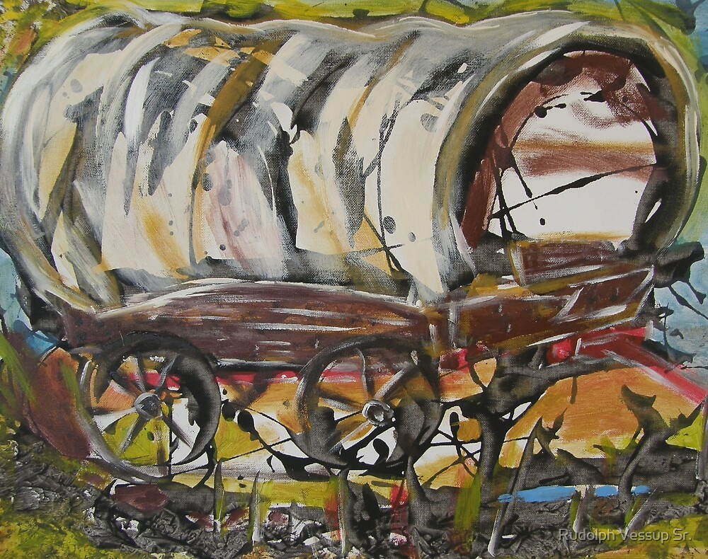 Covered Wagon by Rudolph Vessup Sr.