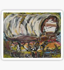 Covered Wagon Sticker