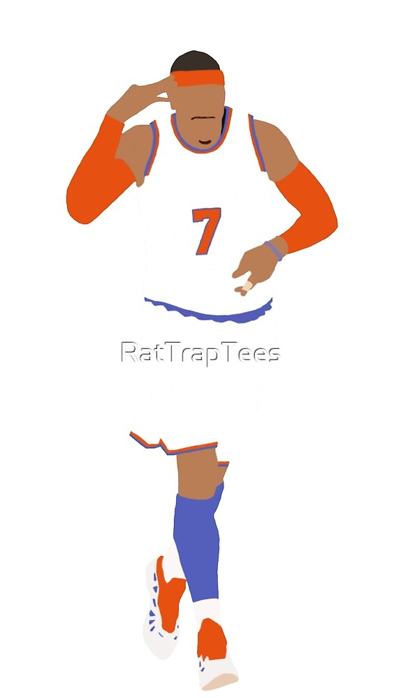 Carmelo Anthony Celebration  by RatTrapTees
