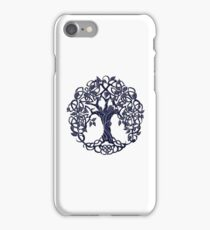 Tree of life blue iPhone Case/Skin