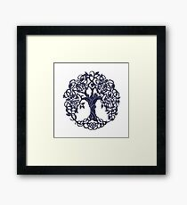 Tree of life blue Framed Print