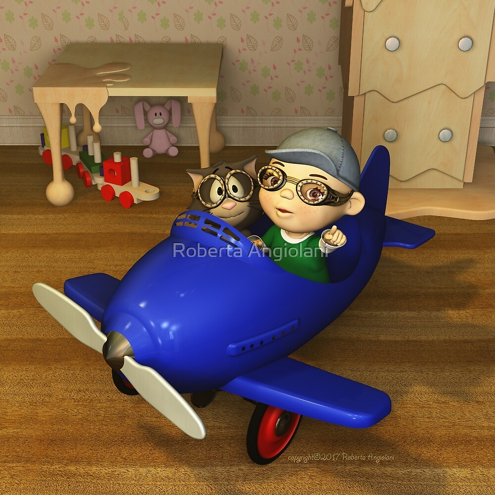 Traveling by flying by Roberta Angiolani