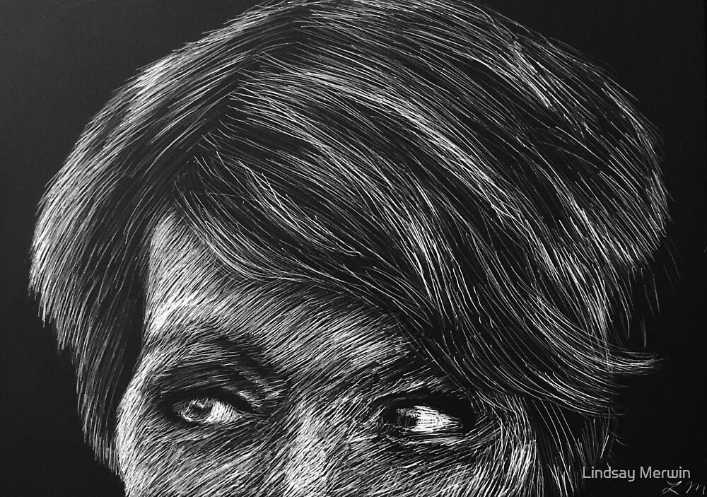 Felicia Day Scratch Art by Lindsay Merwin