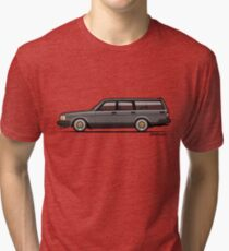 Connor's Volvo 240 Gray Wagon Tri-blend T-Shirt