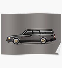 Connor's Volvo 240 Gray Wagon Poster