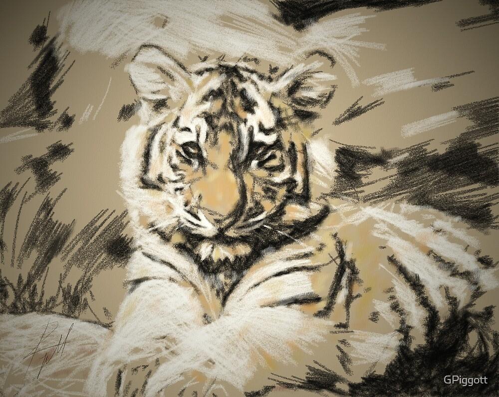 Tiger cub by GPiggott
