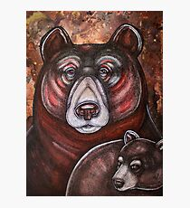 Arcas and Mother Bear Photographic Print
