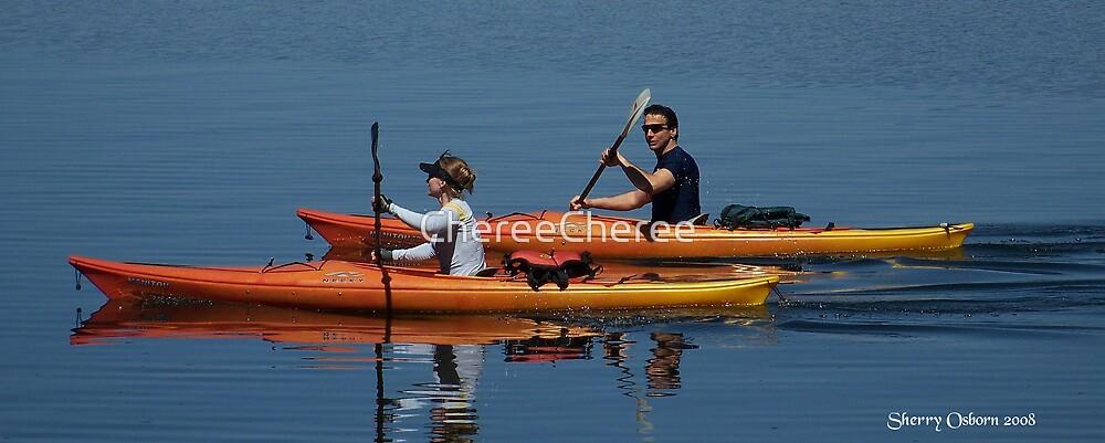 Canoe on The Lake by ChereeCheree
