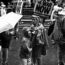 Children protest in New York by Elodie