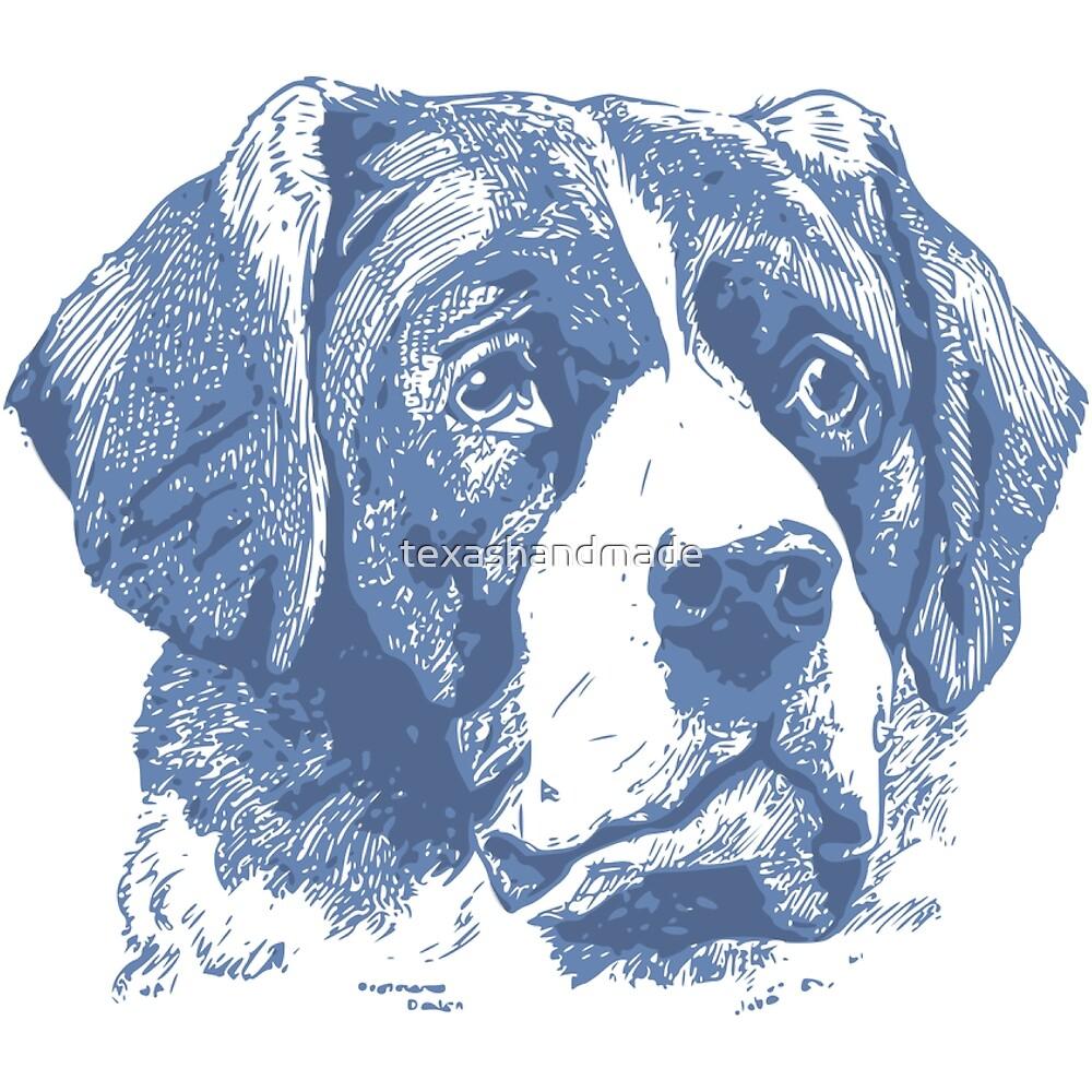 Saint Bernard Dog Lover by texashandmade