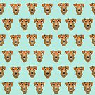 Airedale Terrier Dog face pattern dog breed customized pet portrait by pet friendly by PetFriendly