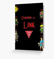 Evolution of Link: The Legend of Zelda 30th anniversary Greeting Card