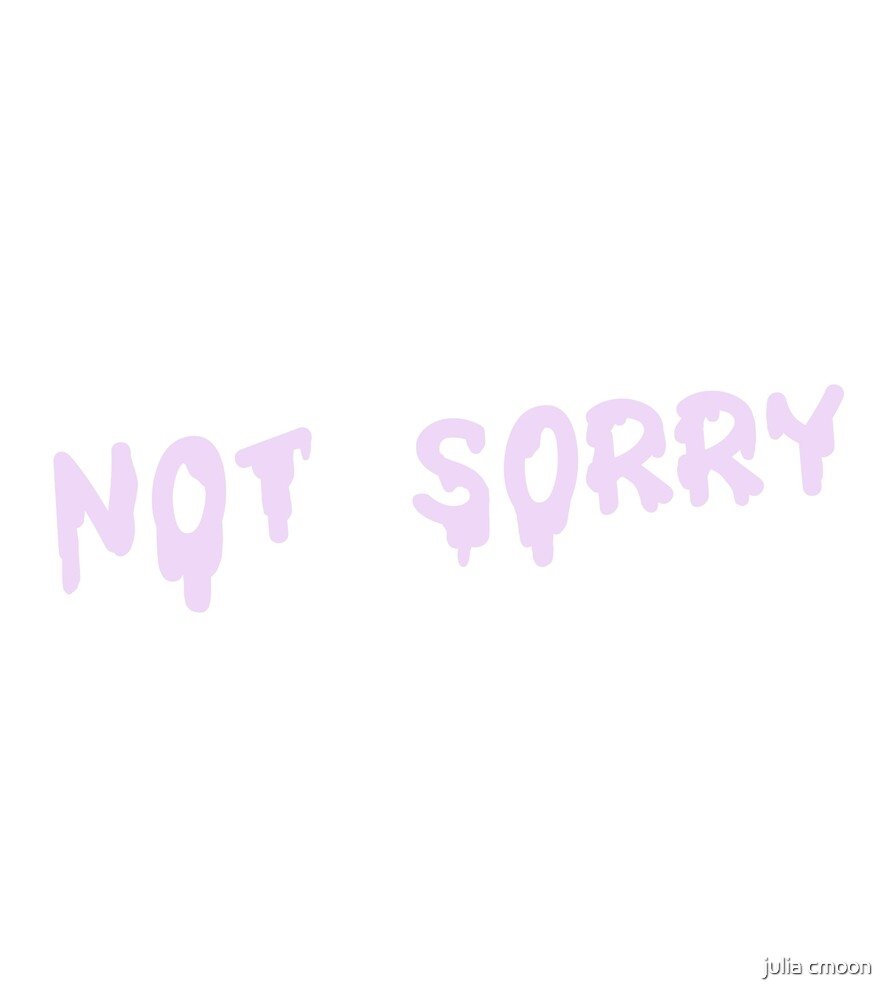 Not Sorry (Pastel Purple) by Curlkitty