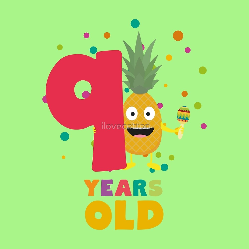 Nine Years 9th Birthday Party Pineapple Rkjcr by ilovecotton